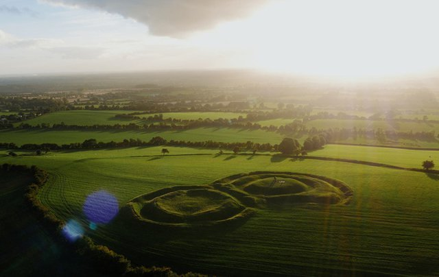 Sacred Hill of Tara Irish landscape