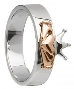 Claddagh ring made with real Irish Gold
