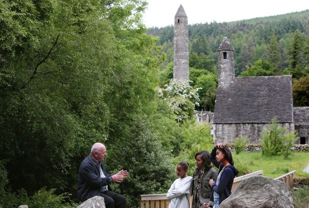 Michelle Obama visits Glendalough in Ireland