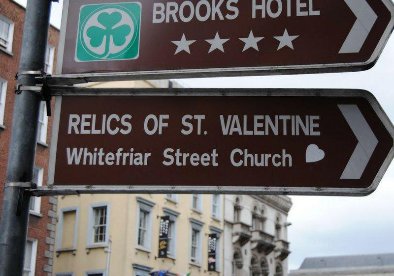 Signpost to Saint Valentine
