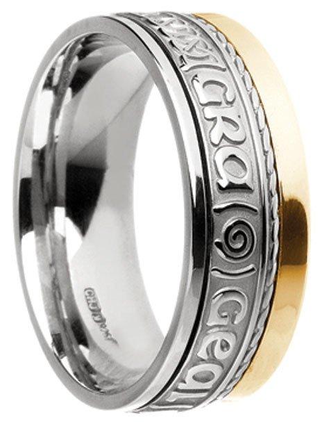 Gold 'Gra Gael Mo Chroi' Wedding Ring