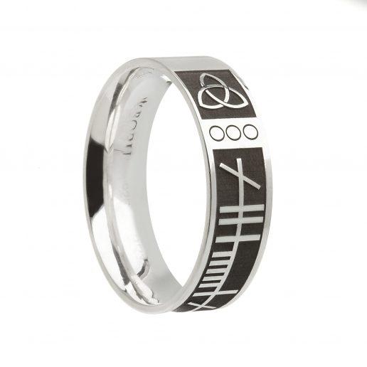 Ogham Script Celtic Wedding Ring