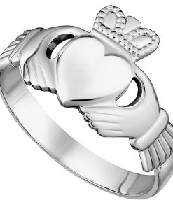 Silver Gents Traditional Claddagh Ring