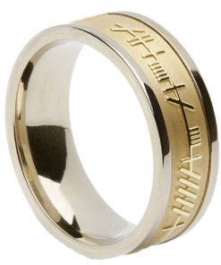Ogham Celtic Wedding Ring