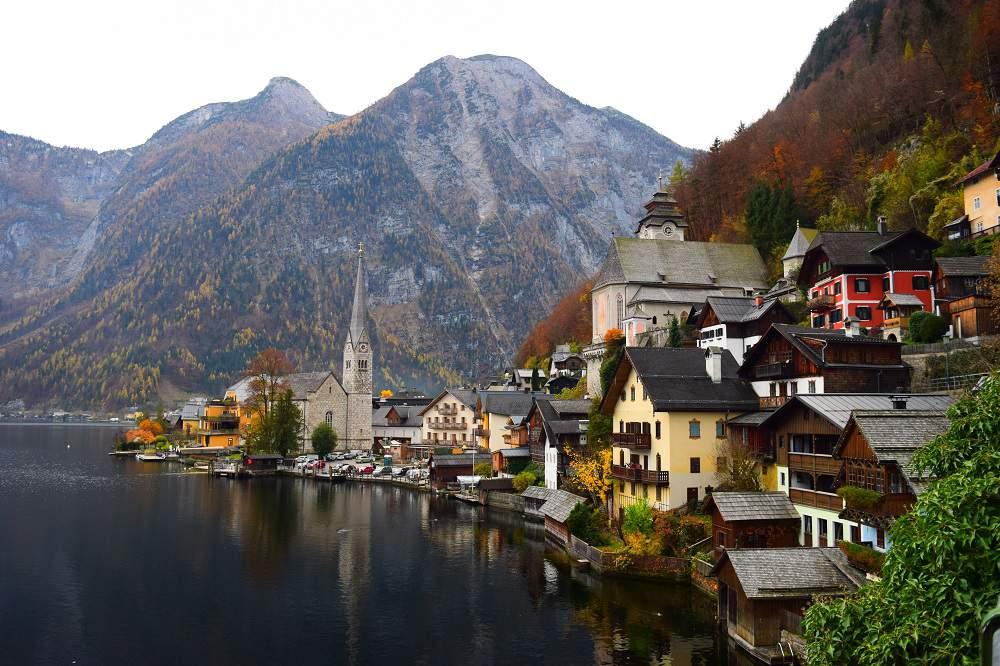 Hallstatt high in the Austrian Alps.