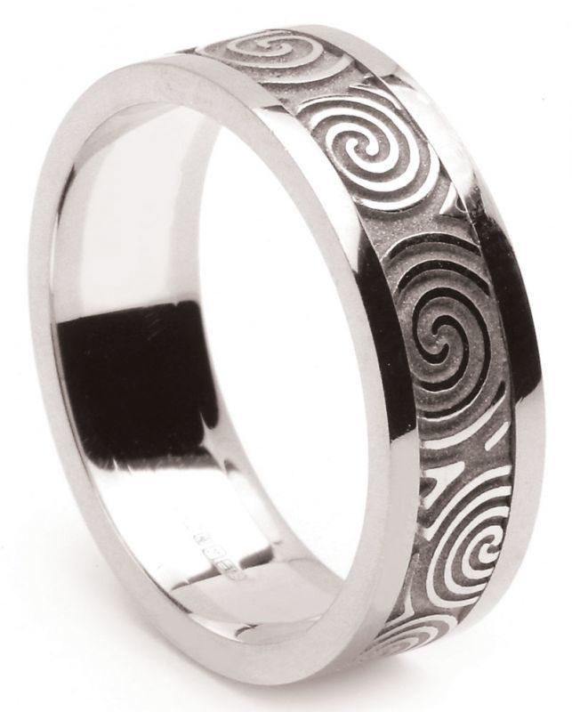 Celtic Spiral Wedding Ring
