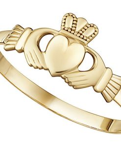 Yellow Gold Mini Claddagh Ring