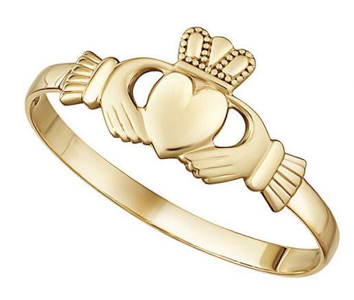Yellow Gold Mini Claddagh Ring