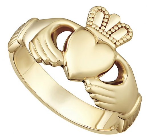 Yellow Gold Extra Heavy Ladies Claddagh Ring