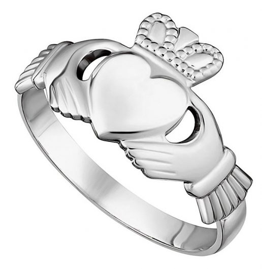 Classic Maid's Sterling Silver Claddagh Ring