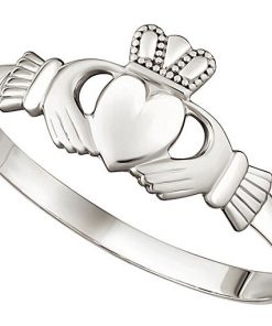 White Gold Ladies Mini Claddagh Ring